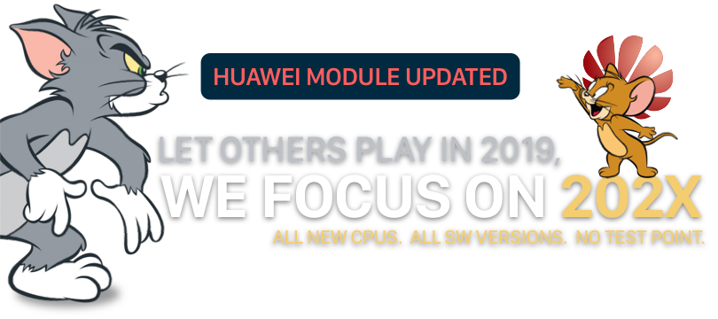 Huawei update – Full Support for the Latest Huawei Kirin CPUs, All SW, No Test Point