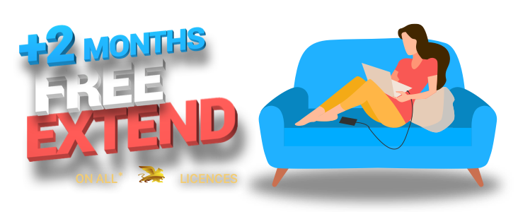 2 Months Free Licence Extend and Free Computer Detach