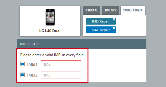 LG Imei repair instructions - ChimeraTool help
