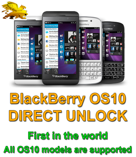 First in the World >> BlackBerry OS10 direct unlock (Z10, Z30, Q5